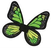 Wings Butterfly Satin Child Green
