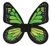 Wings Butterfly Satin And Green