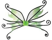 Wings Spider Fairy Green With Black