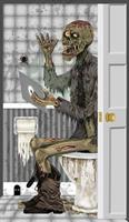 Zombie Toilet Door Cover