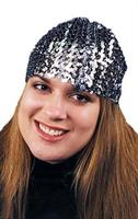 Cloche Hat Sequin Black