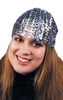 Cloche Hat Sequin Silver