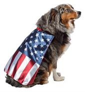 Usa Dog Flag Cape