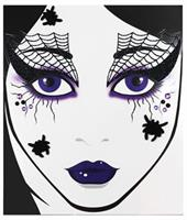Face Decal Spider Web