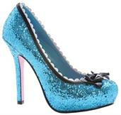Princess Glitter Blue Shoes