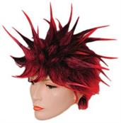 OZ SPIKE RED/BLACK WIG