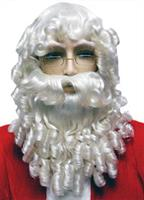 Santa Set Curly White