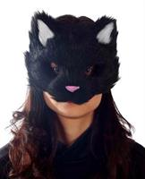 Adult Black Kitty Mask