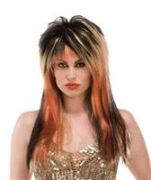 Copper Punk Rocker Wig