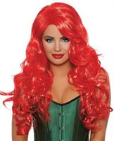 Long Wavy Layered Flame Red Wig