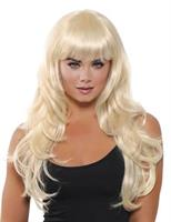 WIG LONG FRINGE BLONDE