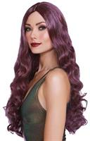 WIG LONG CURLY LIGHT PLUM/BURG