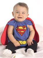 Infant Superman Costume Bib