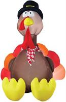 Airblown Turkey With Lights 6 Feet