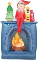 Airblown Scout Elf On Fireplace
