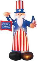 Uncle Sam Airblown 6 Feet Tall Decoration