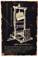 Guillotine Canvas Print W/Ofrm