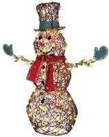 Starry Night Grapevine Snowman Decoration