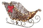 Starry Night Grapevine Sleigh Decoration