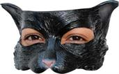 Black Kitty Half Mask