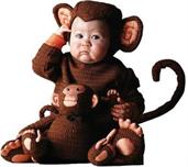 Tom Arma Monkey 4T-5T Toddler Costume
