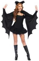 Women's Cozy Bat Shrug with Ears