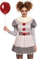 CREEPY CLOWN ADULT COSTUME XLARGE