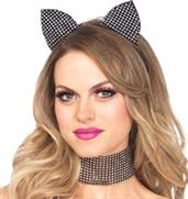 Rhinestone Cat Ears and Choker