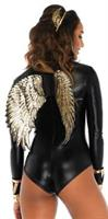 Wings Goddess Gold Sequin