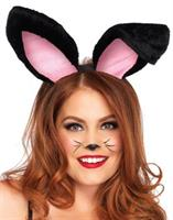 Bunny Ears Adult Plush Black
