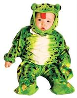 Toddler Plush Green Frog Costume