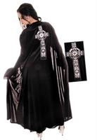 Adult Black Celtic Cape