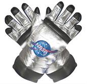 Astronaut Gloves Adult Silver