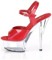 "6"" Heel, 1 3/4"" PF Ankle Strap Sandal w/ Brushed Holo"
