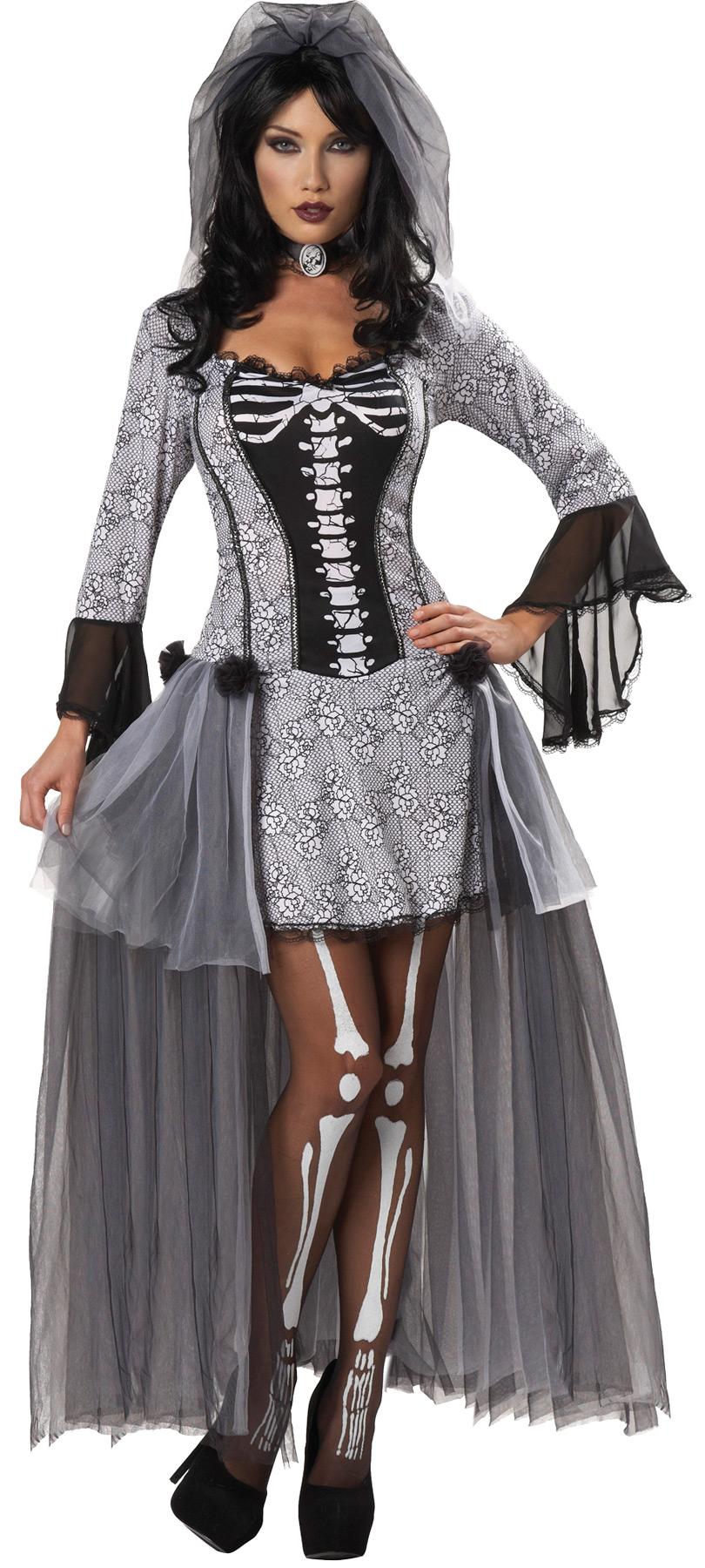 women's skeleton bride costume  costumepub
