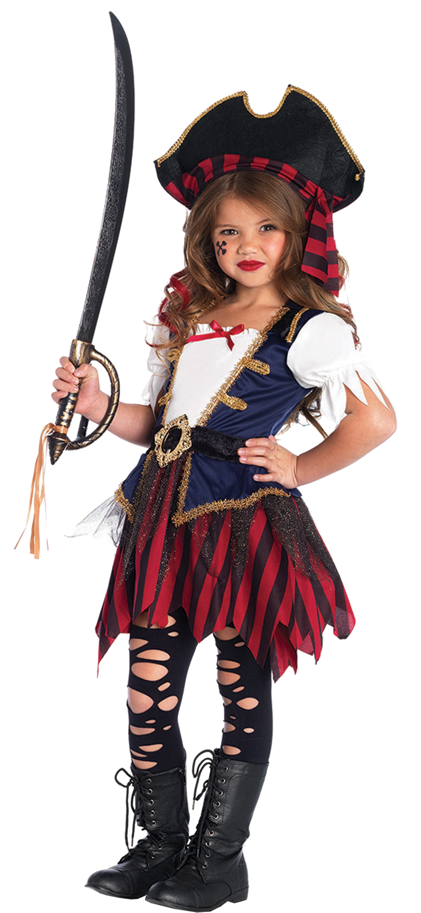 Girl's Pirate Caribbean Costume - CostumePub.com